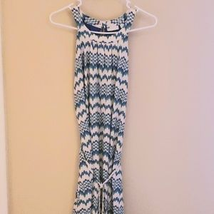 Multi-colored Halter Dress